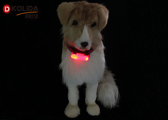 Weather Resistant Nylon LED Flashing Dog Night Light Attacher Pet Protect Collars